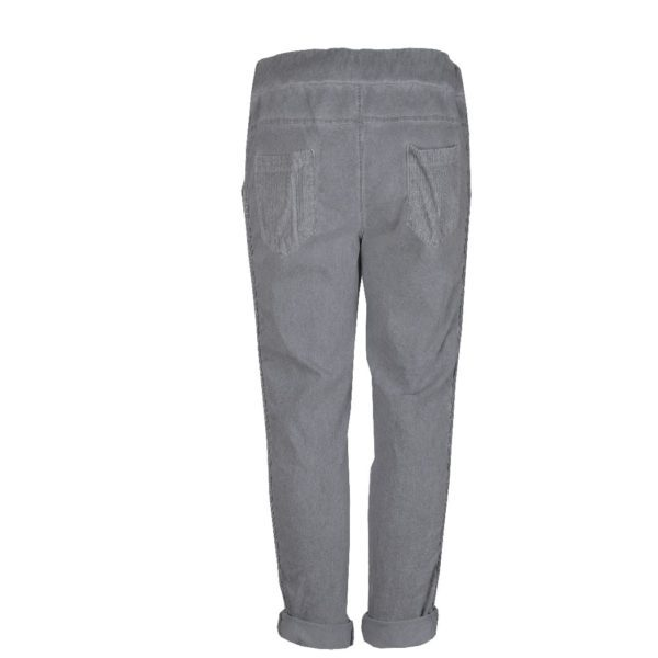 Cord lurex trim pants