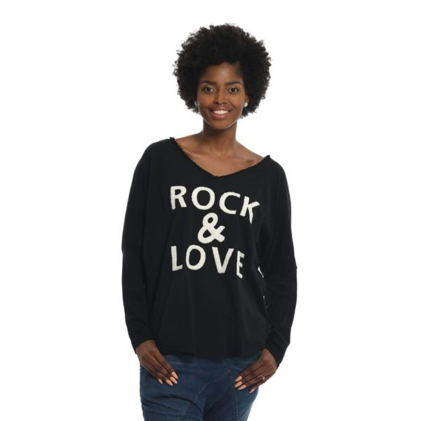 Love & rock knit top