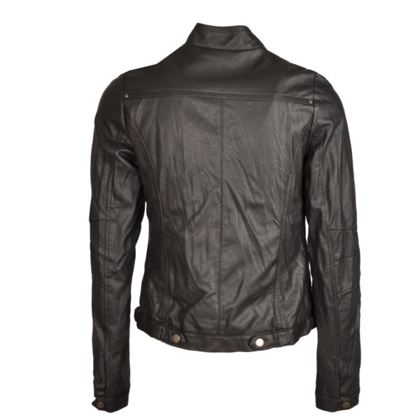 Crushed leatherette jacket