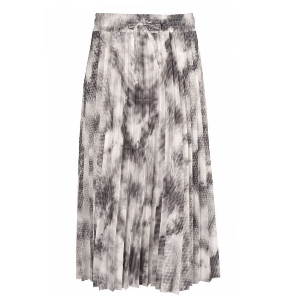 Tie-dye pleated skirt
