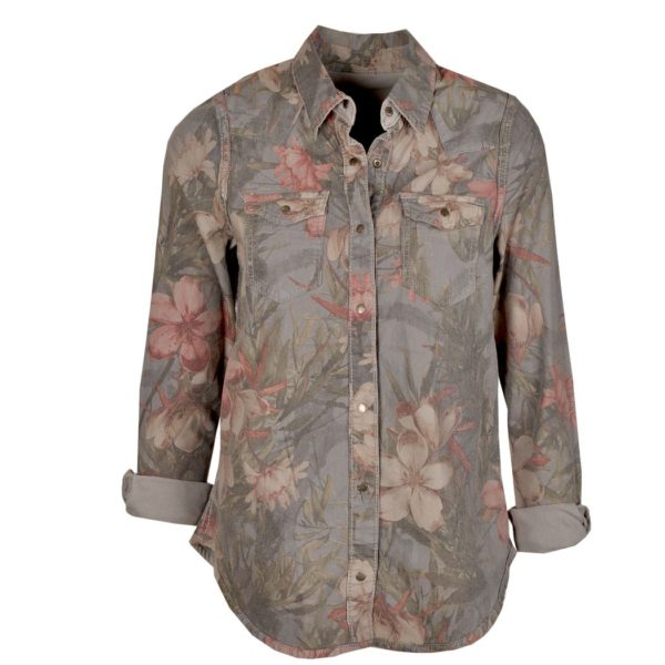 Reversible jungle print shirt