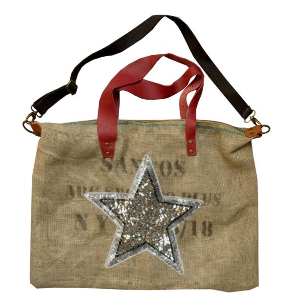 Giant sequin star bag