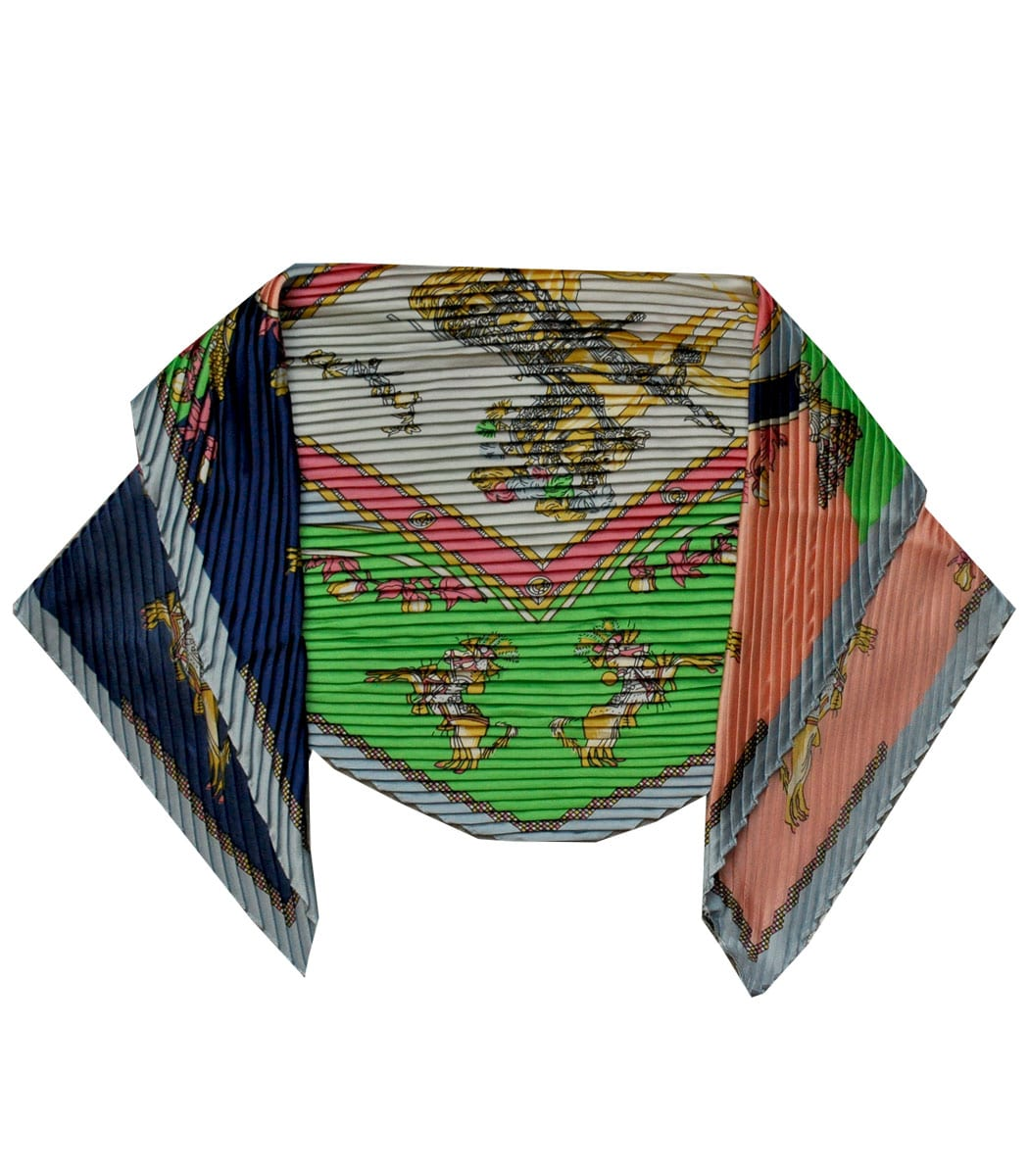 Pleated hermes inspired scarf
