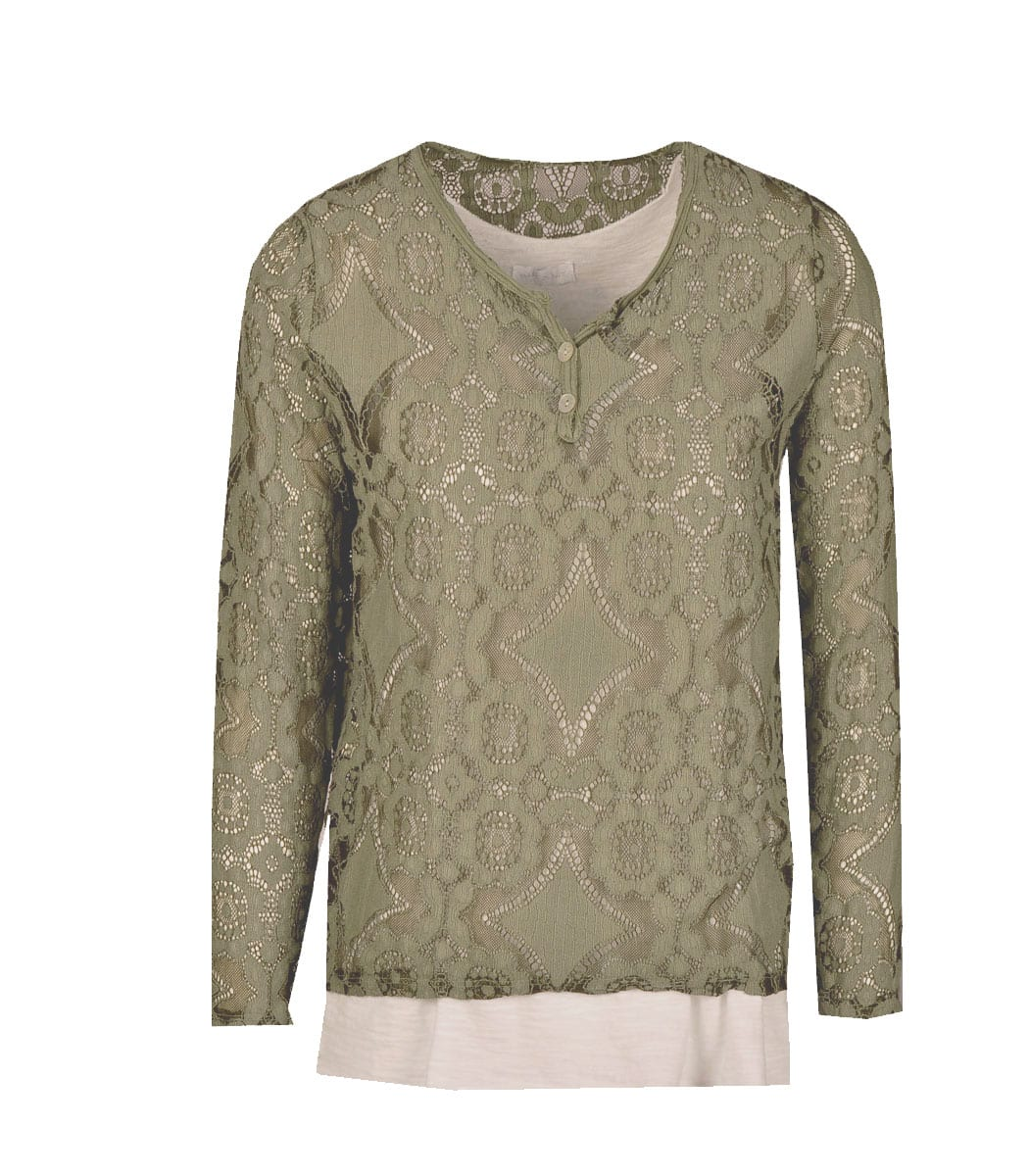 Lace double layered top