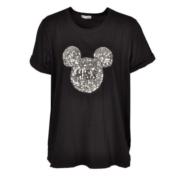 Sequin mickey t-shirt