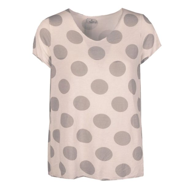 Giant polka dot knit top