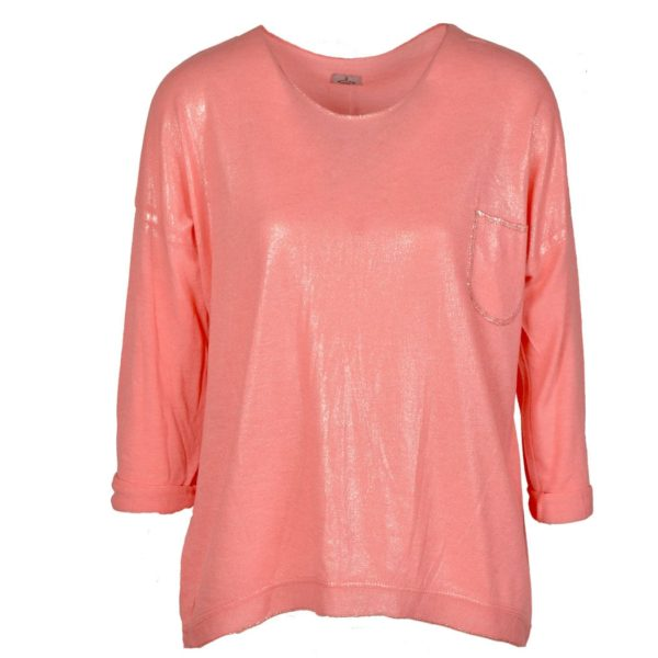 Silver finish coral pocket top