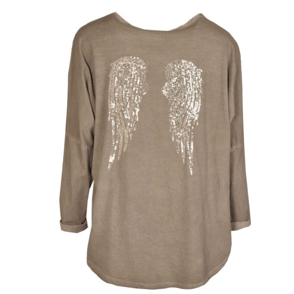 Back sequin wings top