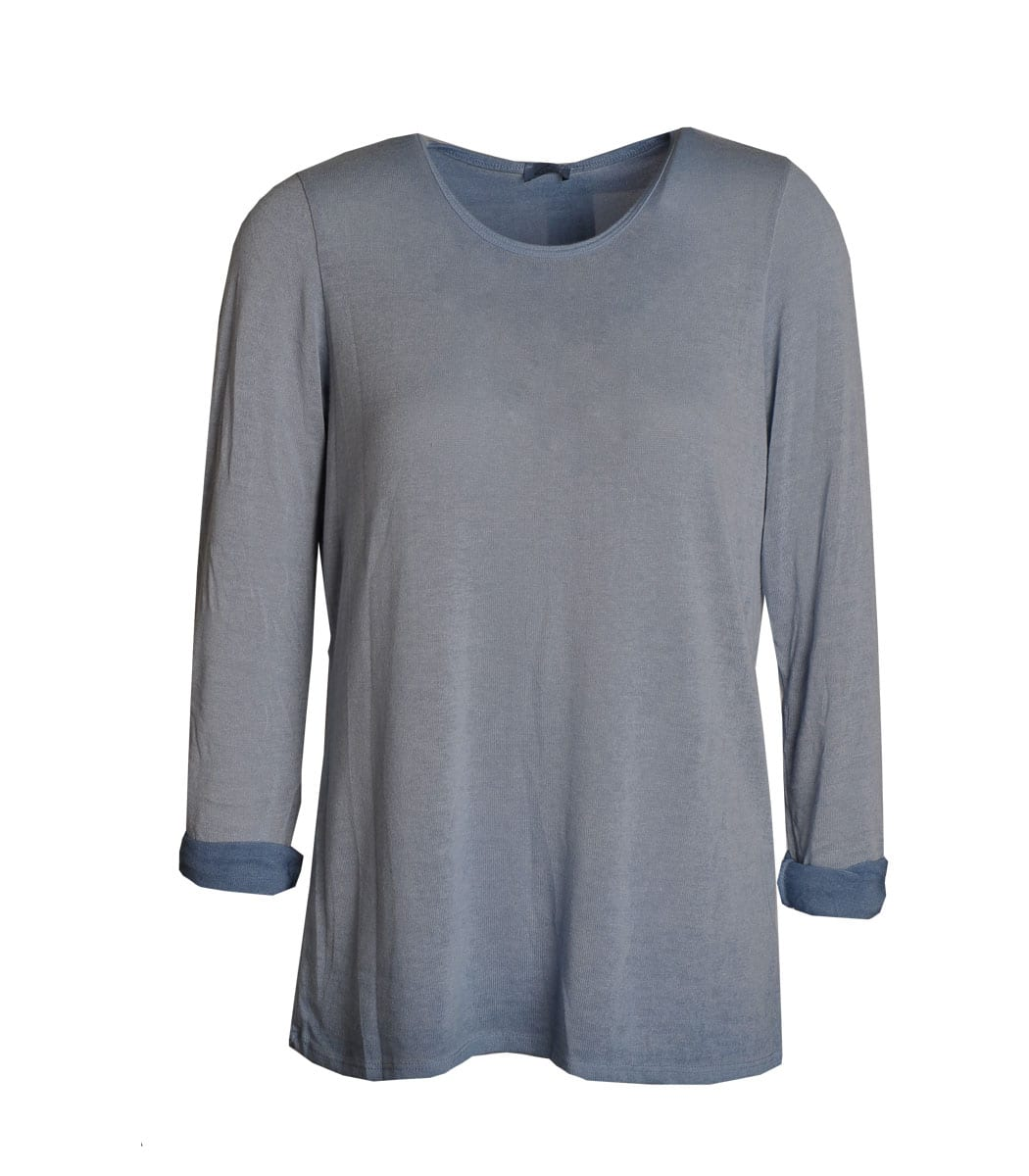 Washed knit top