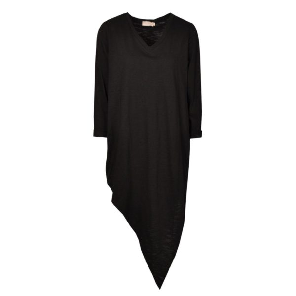 Asymmetrical peace sign back tunic