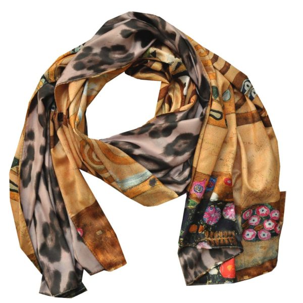 Animal/ Klimpt print scarf