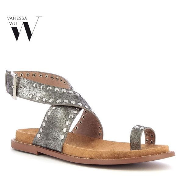 Vanessa Wu studded ankle strap