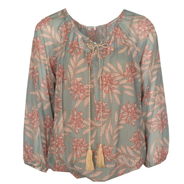 Bubble print long sleeve top