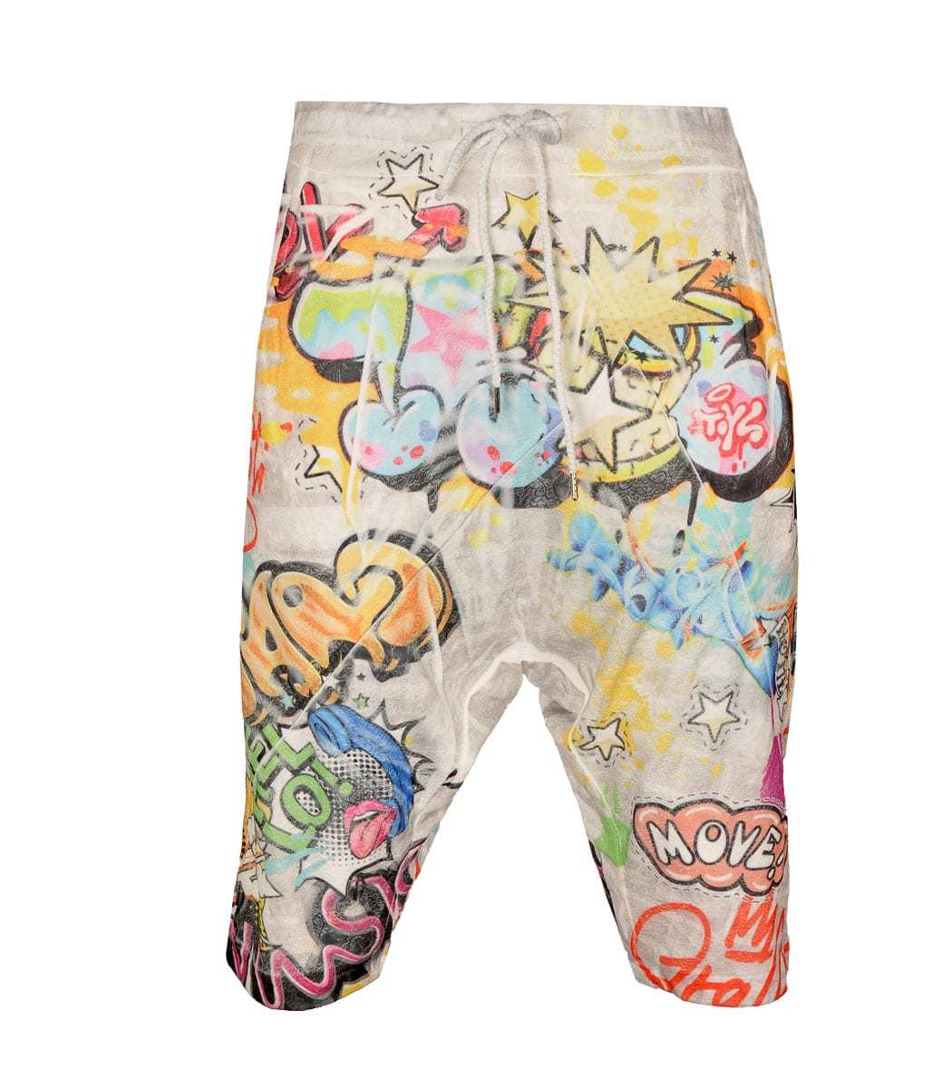 Graffiti harem shorts