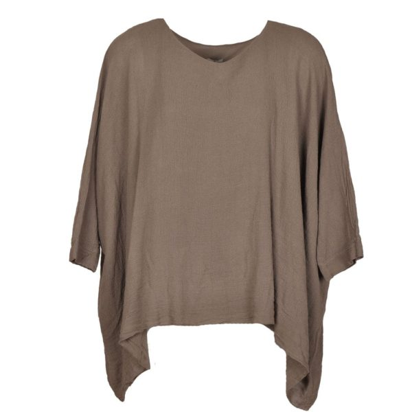 Linen mix boxy top