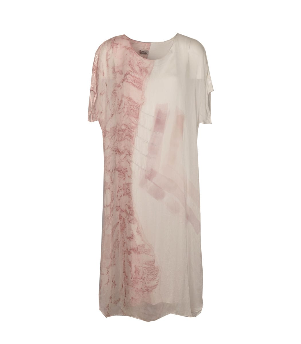 Silk tie-dye maxi dress