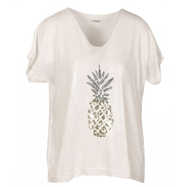 Pineapple motif t-shirt