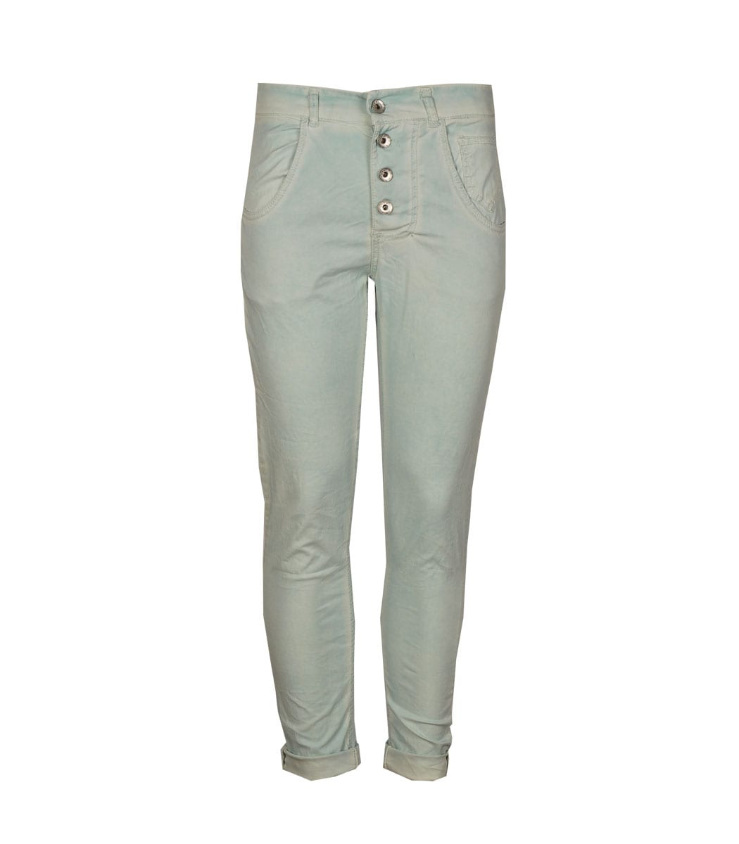 2-Textured washed pants
