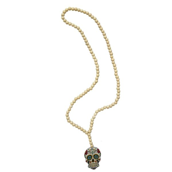 Giant skull long necklace
