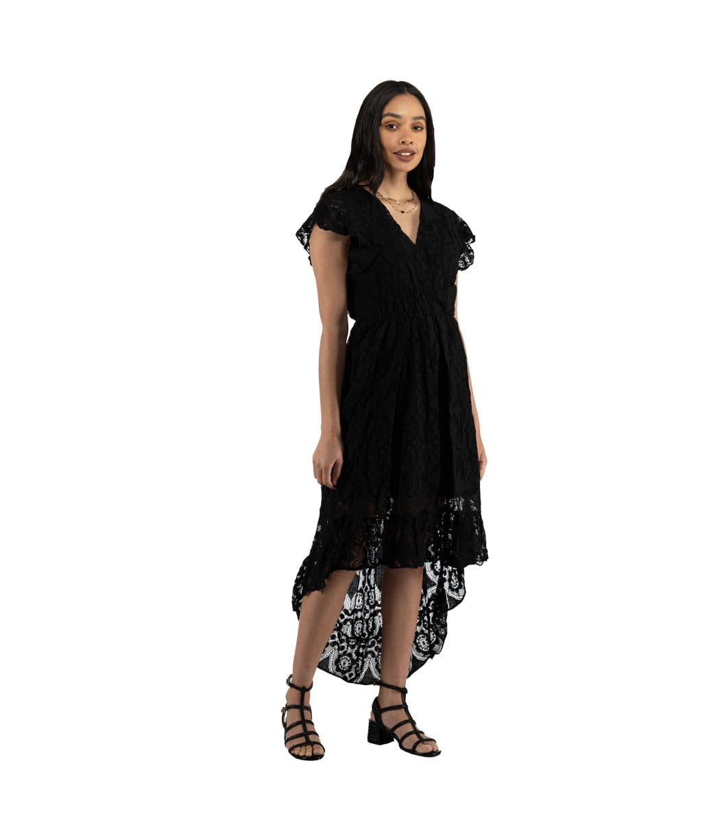 Hi-lo lace dress