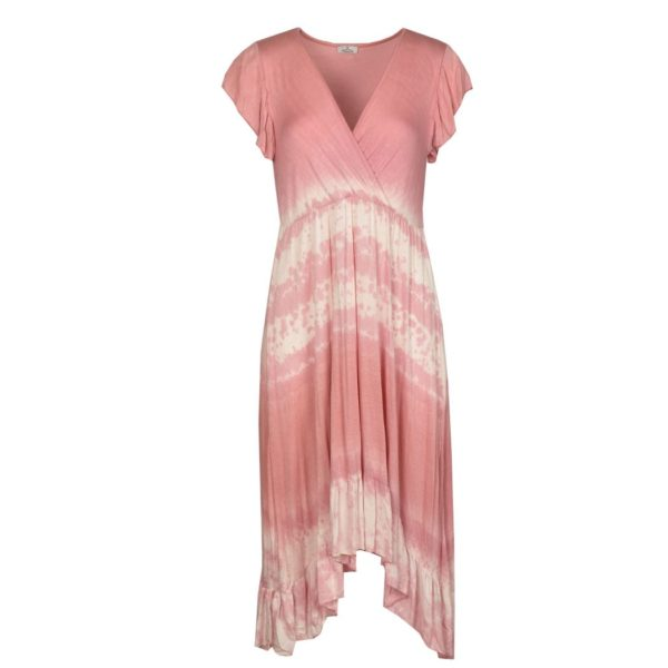 2-Textured dip-dye dress