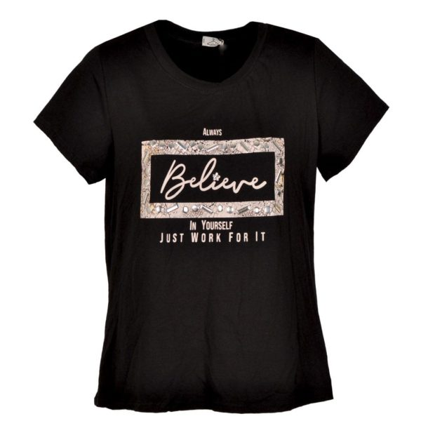 Always believe print t-shirt