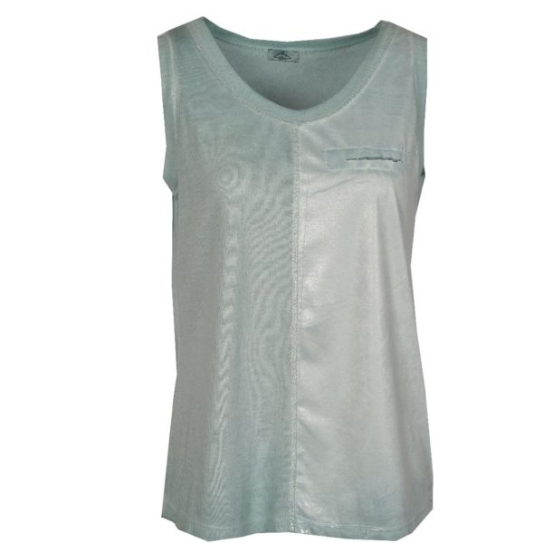 Foil trim coated vest