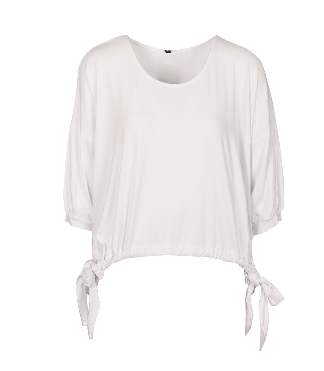 Draw-string hem top