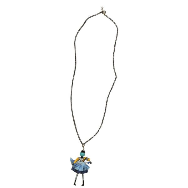 Beaded doll charm necklace