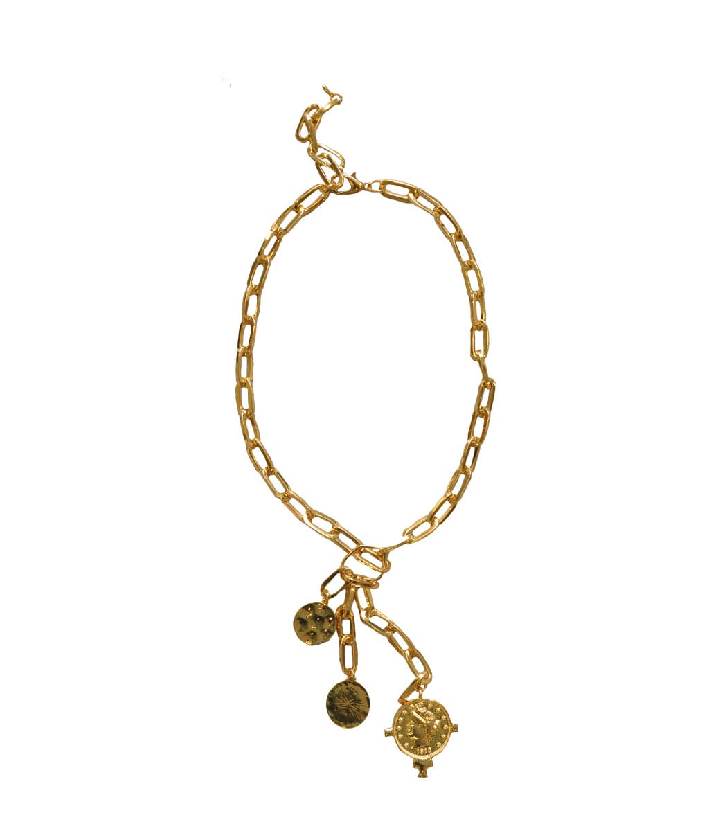 Gold coin chunky chocker