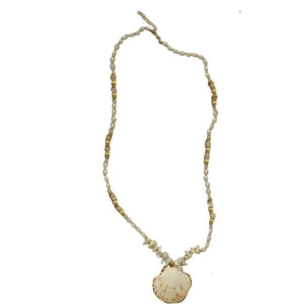 Giant shell bead necklace