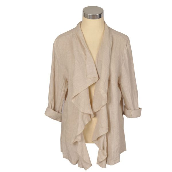 Linen waterfall jacket
