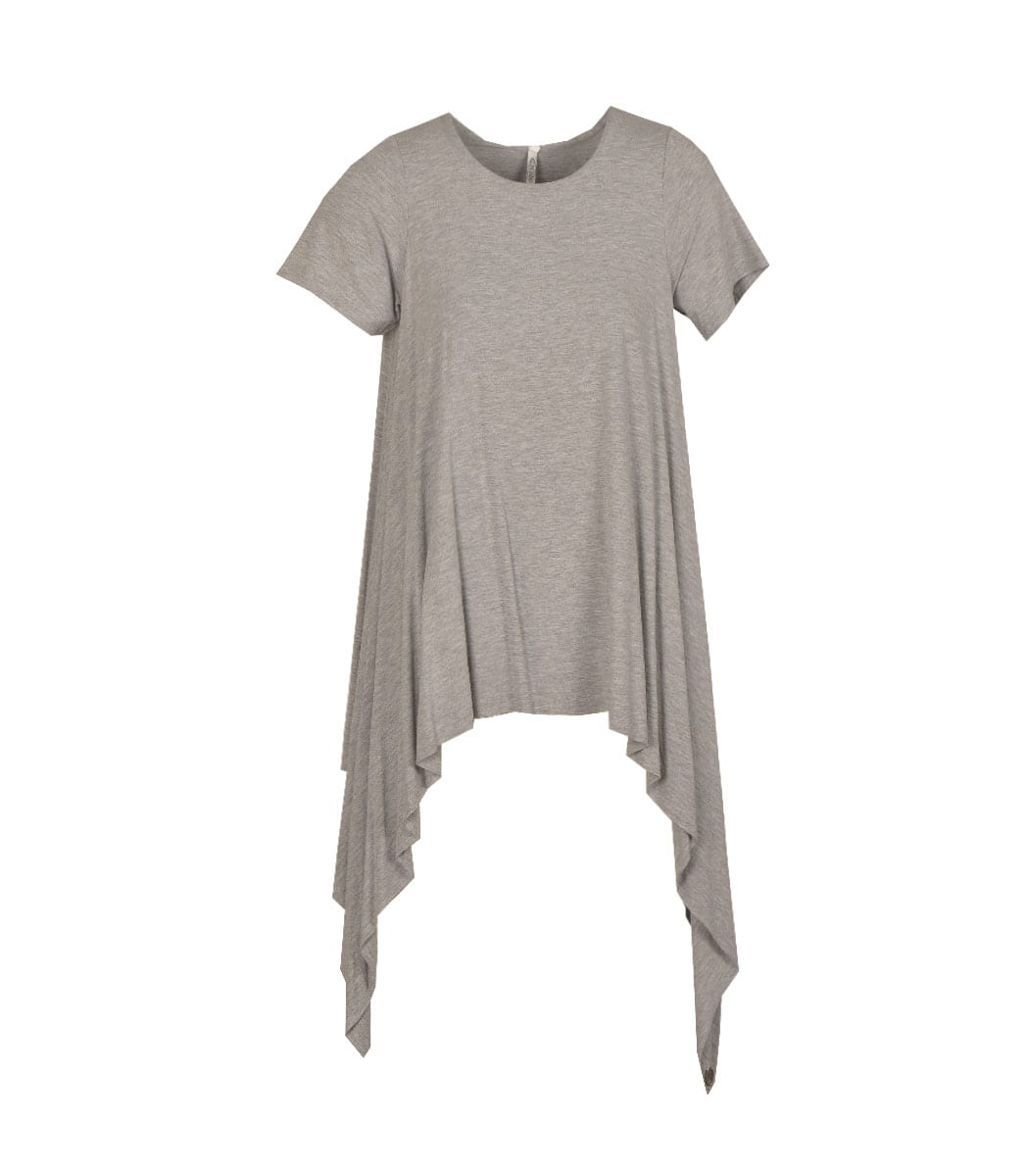 Cocoon pointed t-shirt