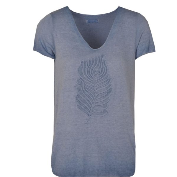 Feather embossed t-shirt