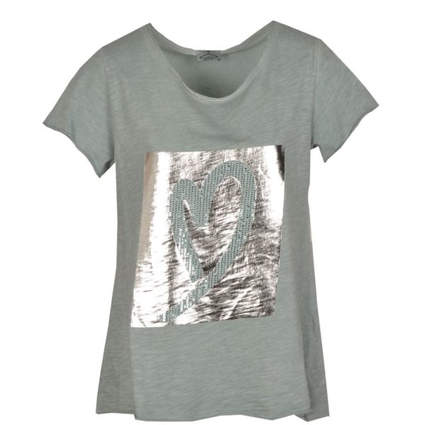 Foil cursive heart top