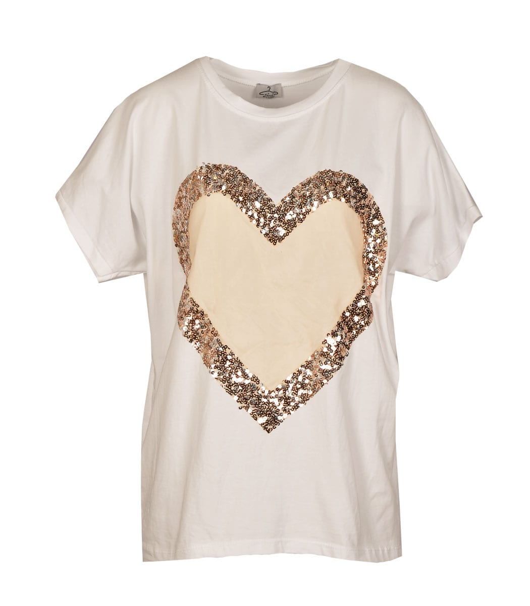 Sequin heart top