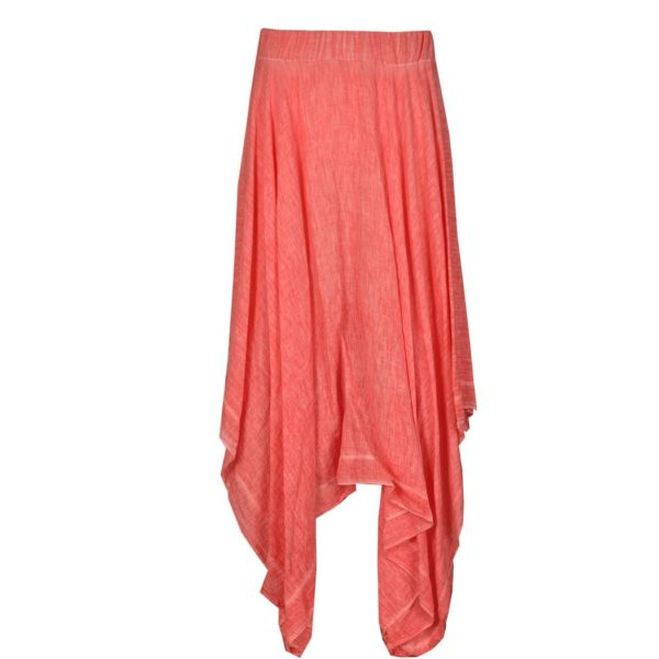 Linen pointed skirt