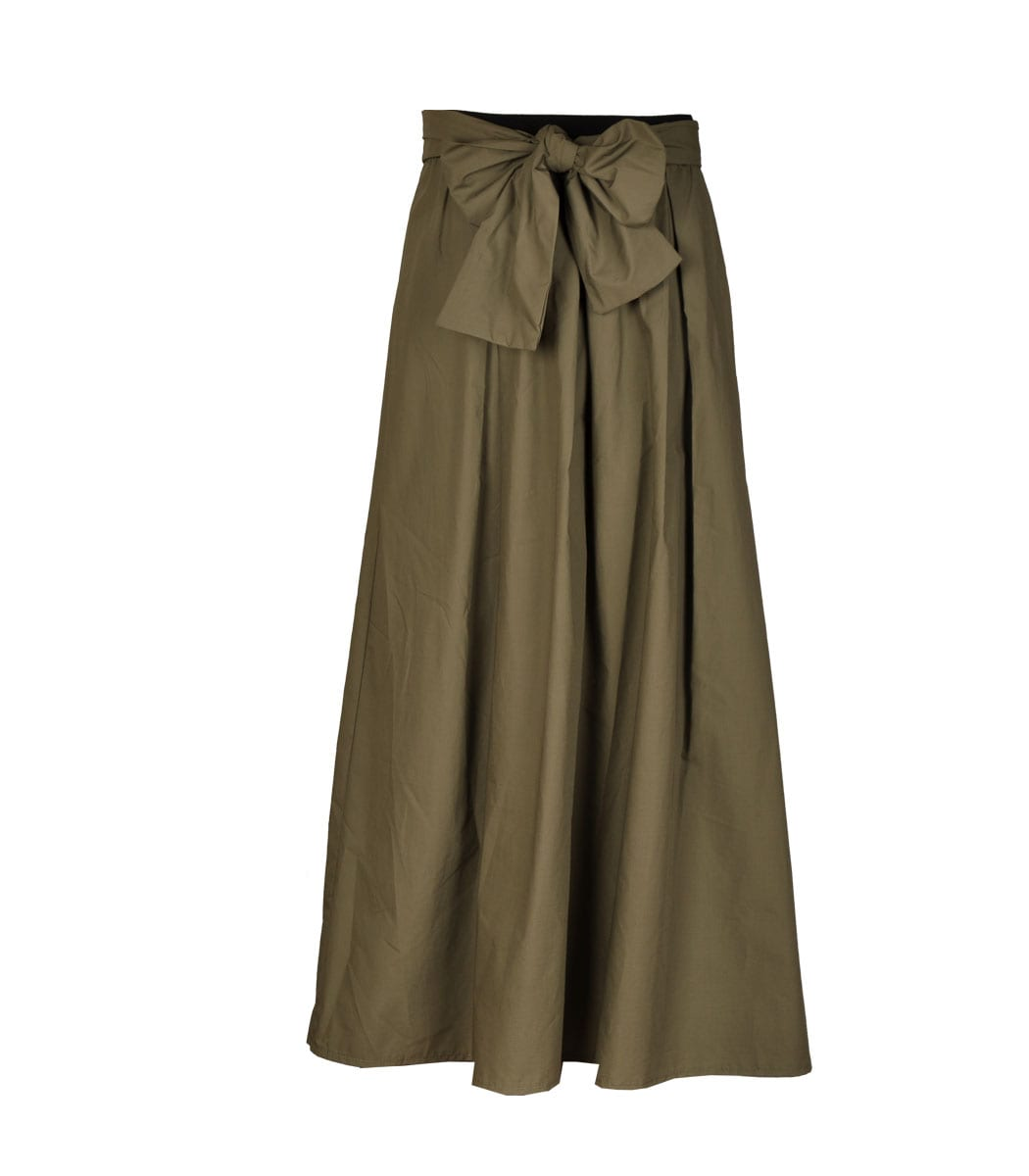 Front bow long skirt