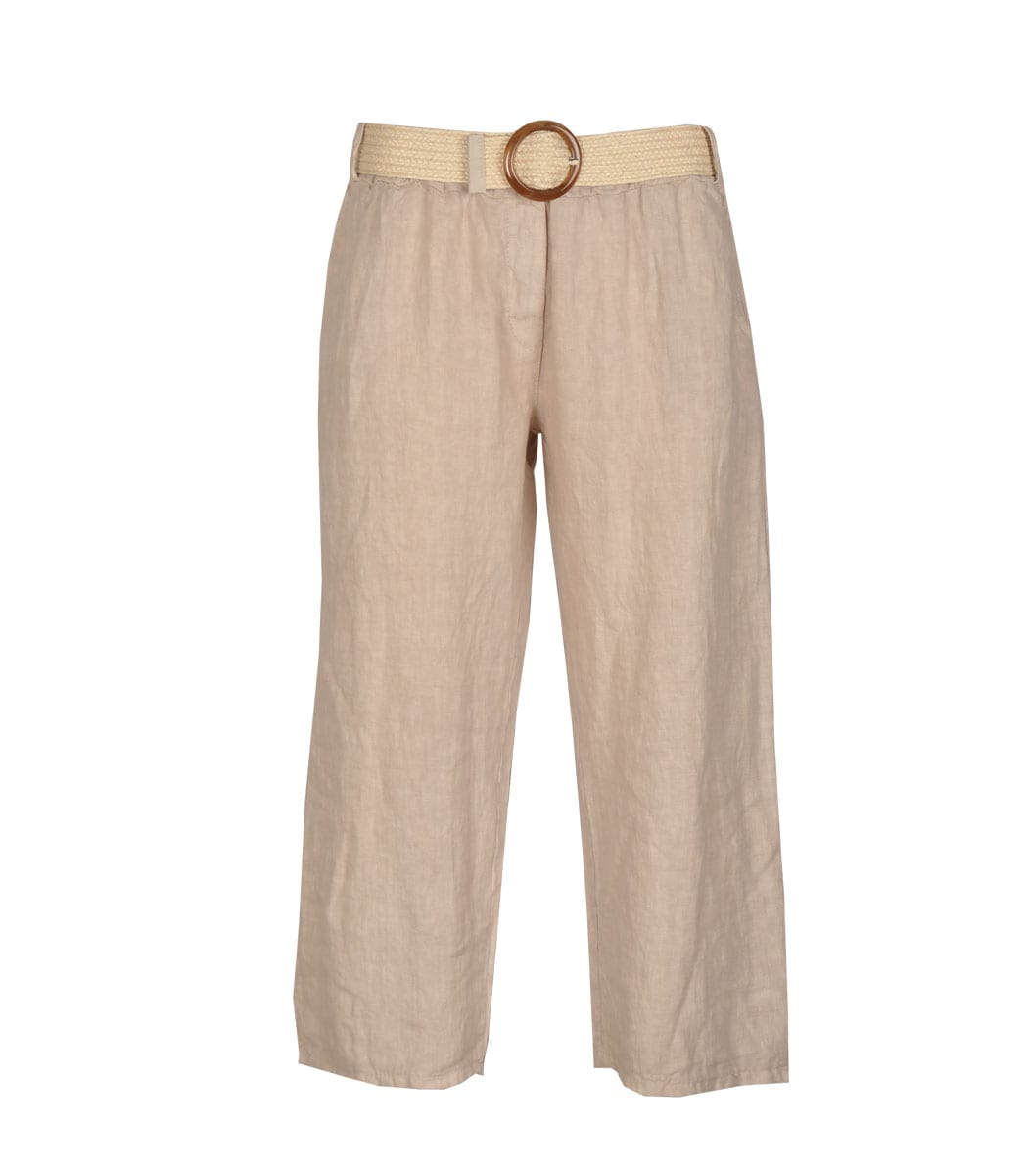 Belted flare pants
