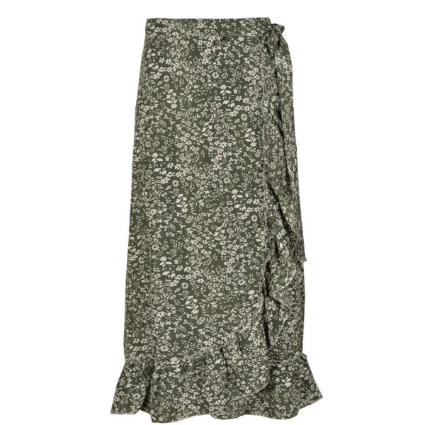 Mini floral wrap skirt