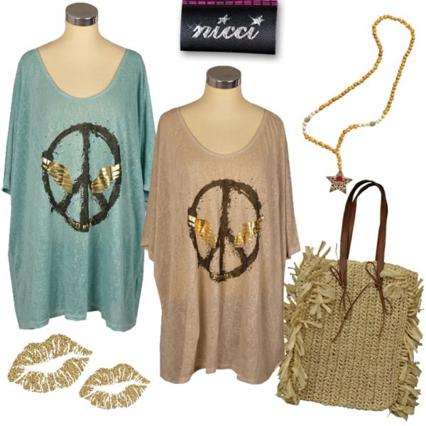 Peace wing tunic