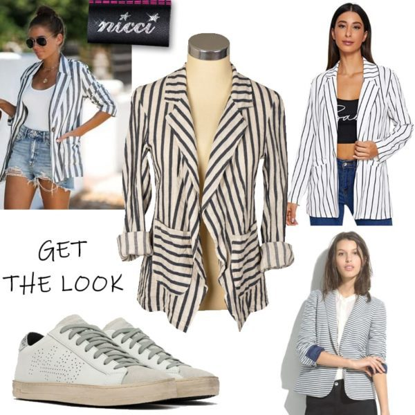 100% Linen striped jacket