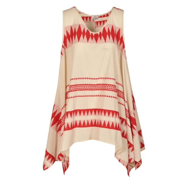 Aztec sleeveless swing tunic