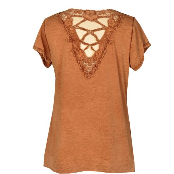 Lace v-back t-shirt