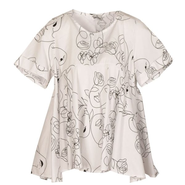 Face print swing top
