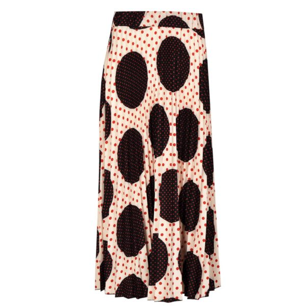 3 Size spot pleated skirt