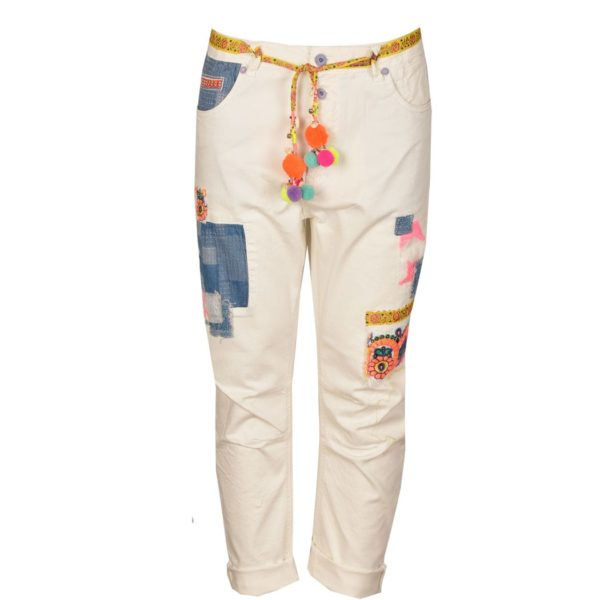 Fluo patch jeans