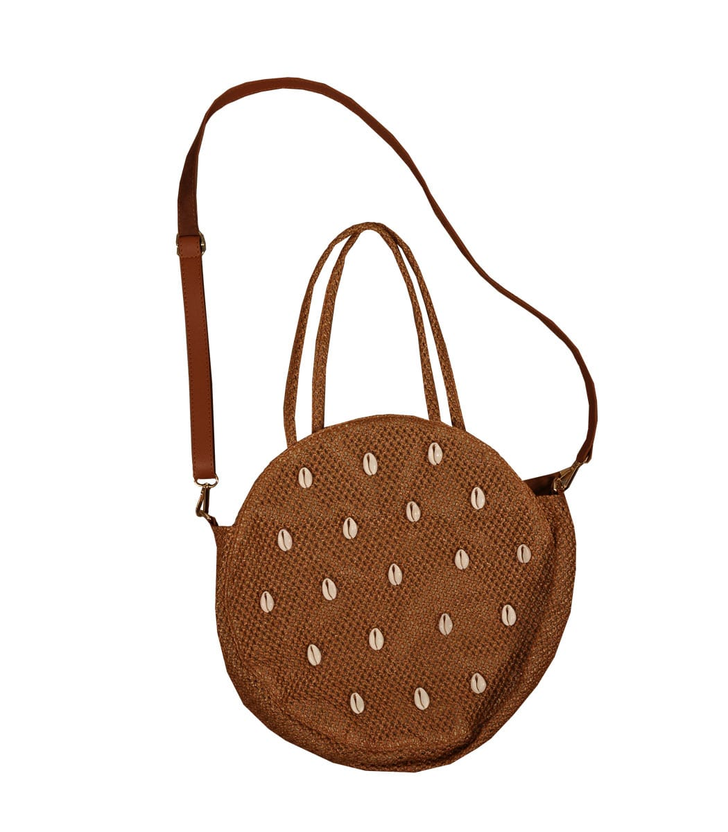 Round shell detail bag