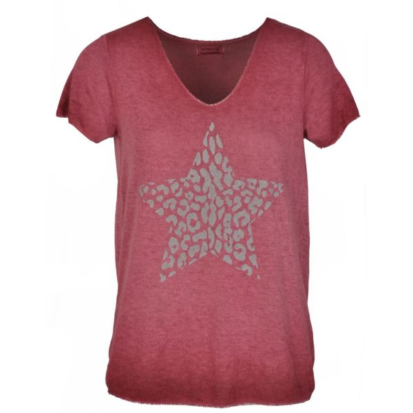 Fine knit animal star t-shirt
