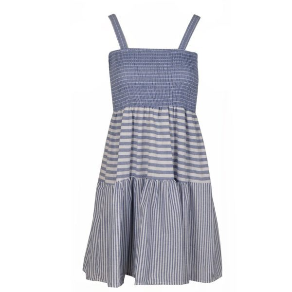 Multistripe strap dress